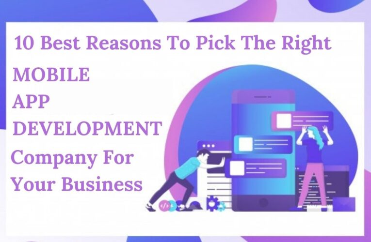 10 Best Reasons To Pick The Right Mobile App Development Company For Your Business